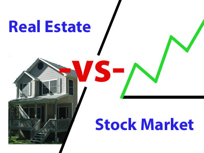 Different investment options from real estate to stock